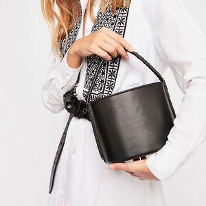 Free People Vivian Bucket Bag Black NEW